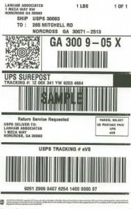 SurePost Sample Label