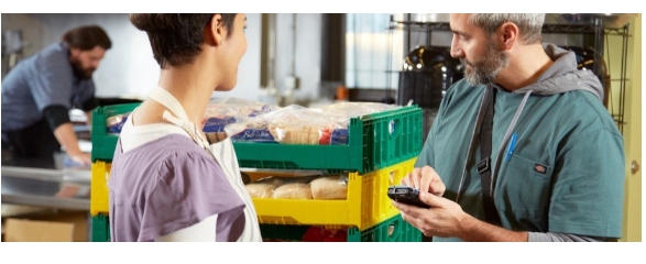 Warehouse Workers with Handheld